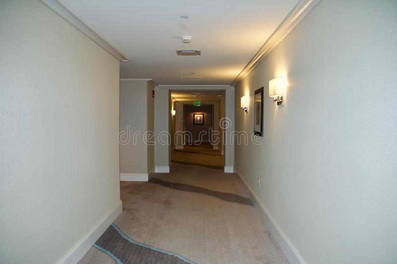 Elegant Hallway in Luxury Condo Building. royalty free stock images