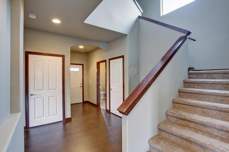Download Elegant Hallway With Stairs. Stock Photo   Image: 56323882