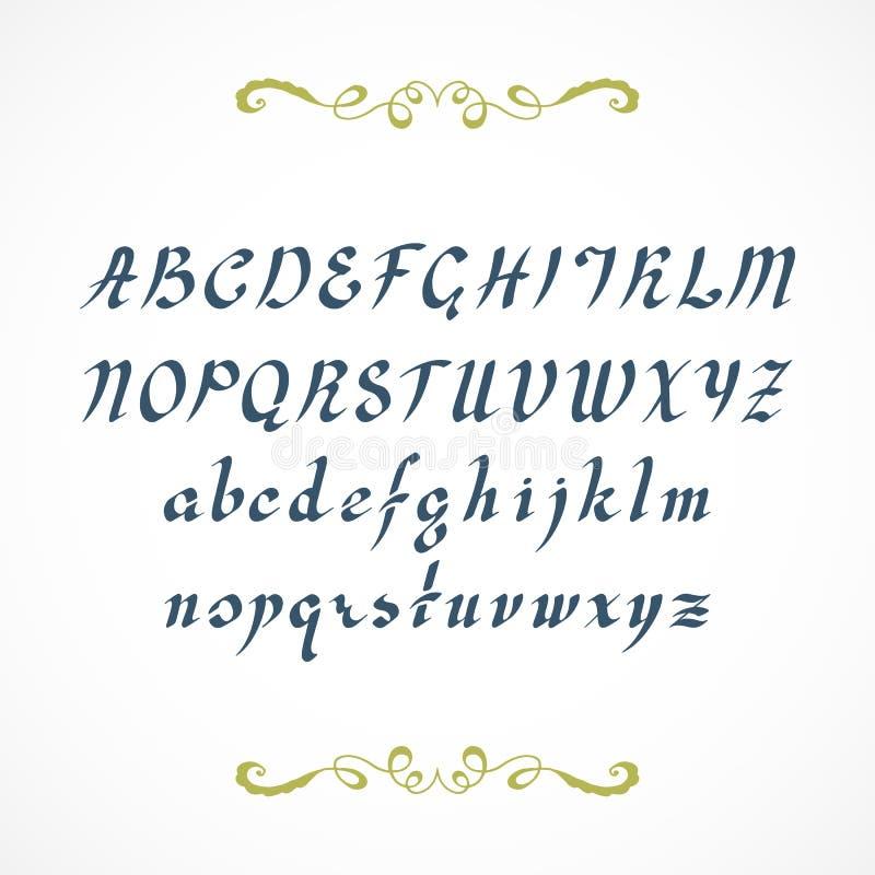 Download Elegant Hand Drawn Font Stock Vector Illustration Of