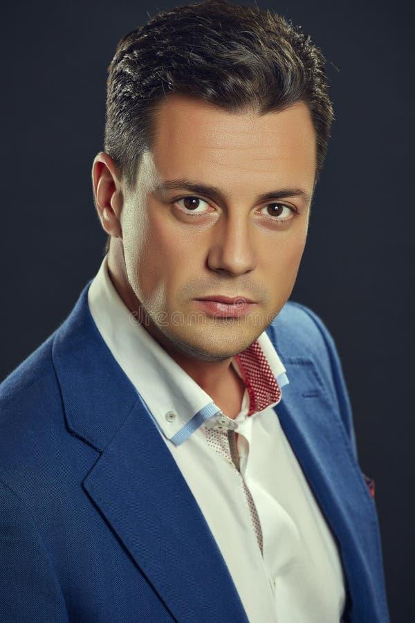 Elegant handsome businessman stock image