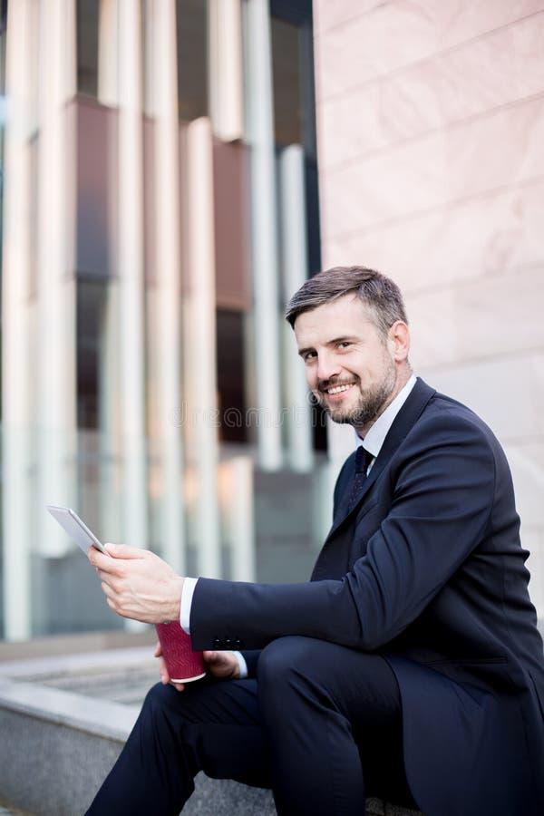 Elegant handsome entrepreneur royalty free stock photo