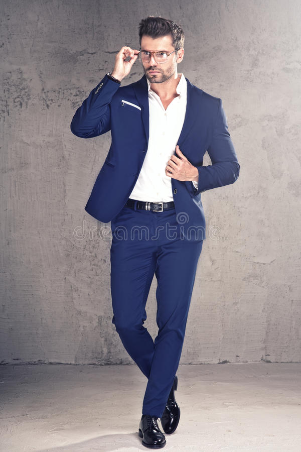 Elegant handsome man in suit. stock photography