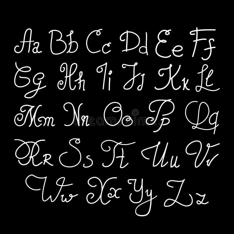 Download Elegant Handwritten Letters Stock Vector