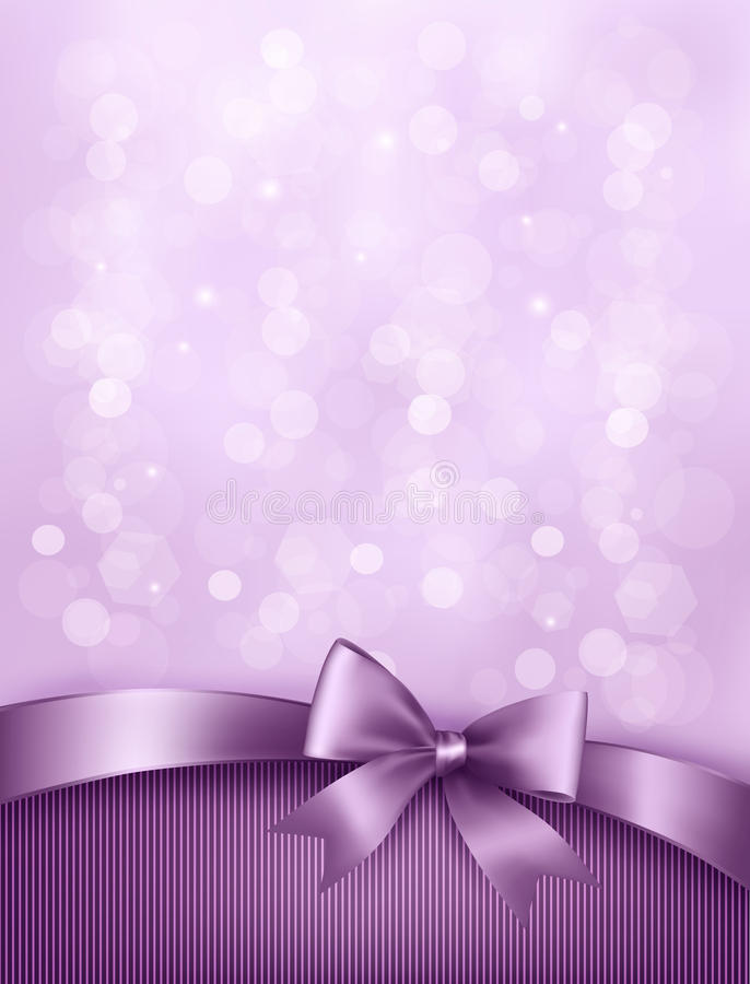 Free Elegant Holiday Background With Gift Bow And Ribbo Royalty Free Stock Images - 34081439