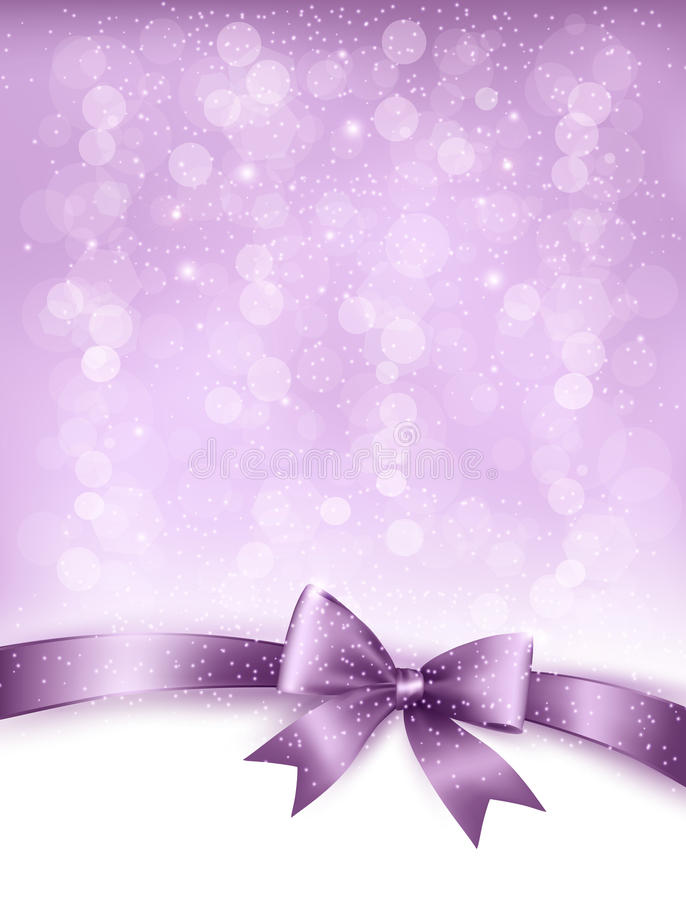Free Elegant Holiday Background With Gift Bow And Ribbo Royalty Free Stock Images - 34081459