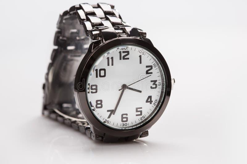 Elegant horloge met een metaalarmband stock fotografie