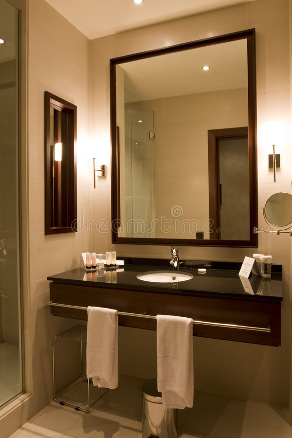 Elegant hotel or apartment bathroom. Elegant 5 star hotel or apartment luxury bathroom stock photos