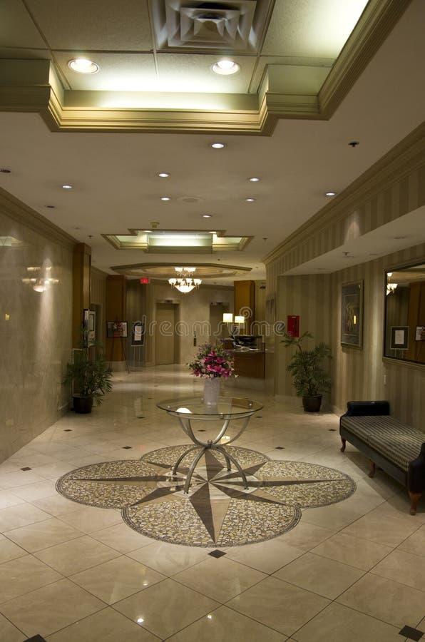Elegant hotel lobby royalty free stock image