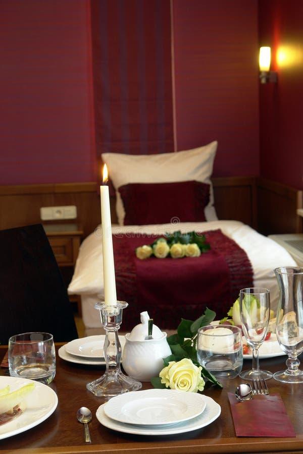 Elegant hotel room service stock images