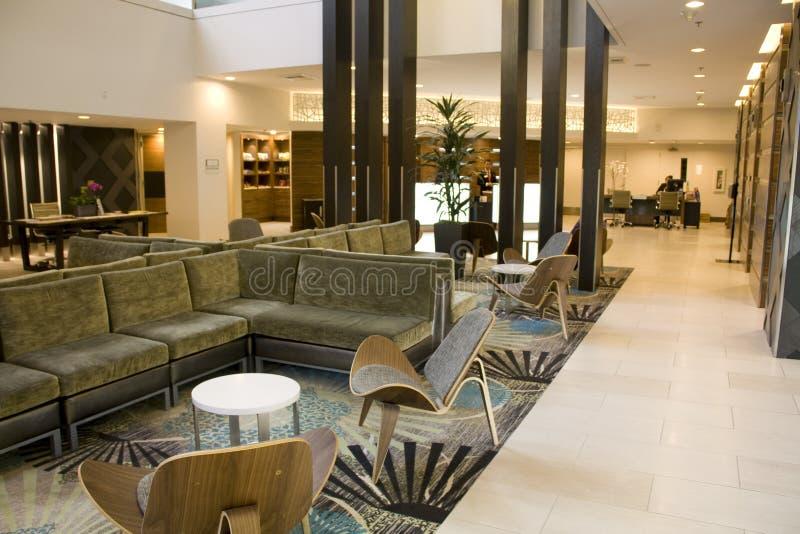 Elegant hotelllobby royaltyfri fotografi