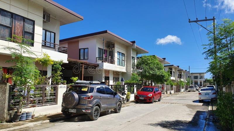 Elegant House Subdivision in Mandaue City, Cebu, Philippines stock image