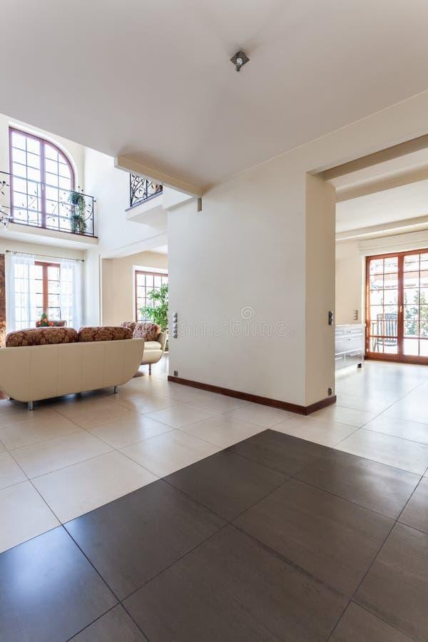 Elegant huis - binnenland stock afbeelding