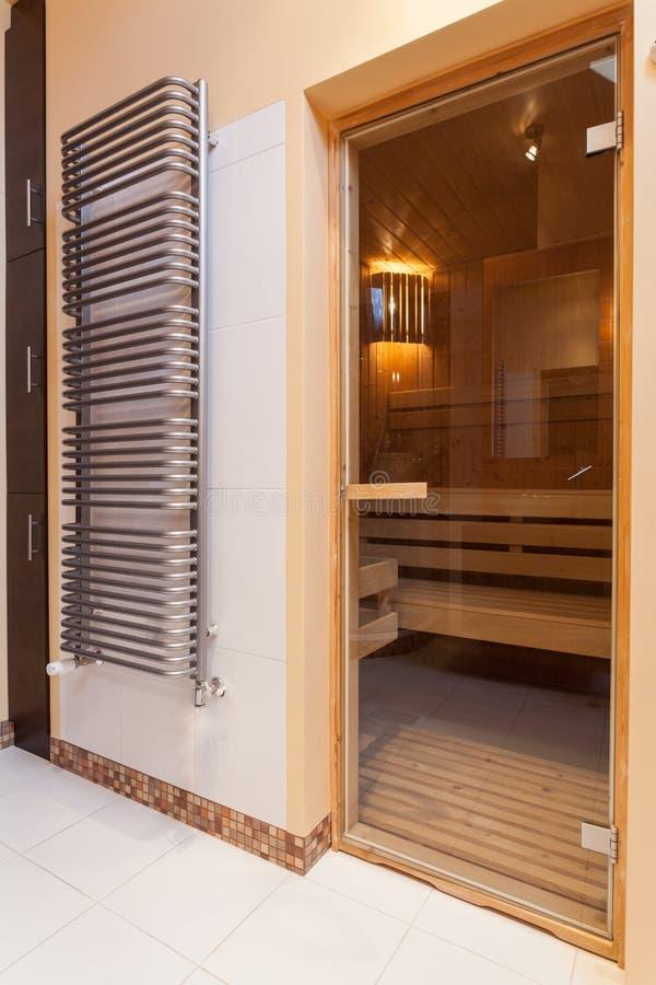 Elegant huis - sauna stock fotografie