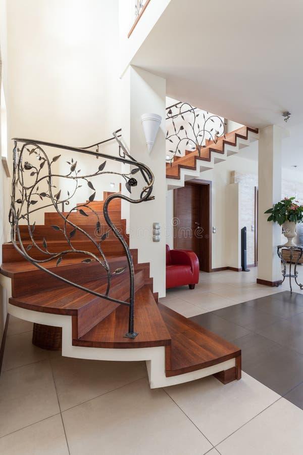Elegant huis - Treden royalty-vrije stock afbeelding