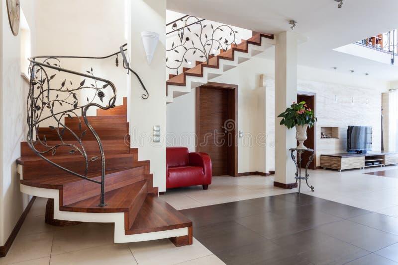 Elegant huis - woonkamer stock afbeeldingen