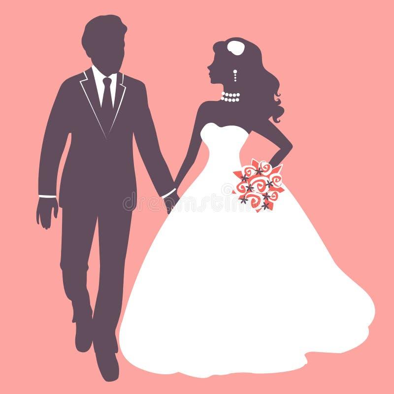 Elegant huwelijkspaar vector illustratie