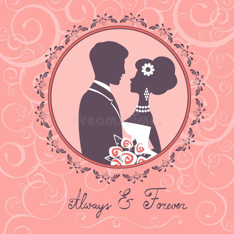 Elegant huwelijkspaar stock illustratie