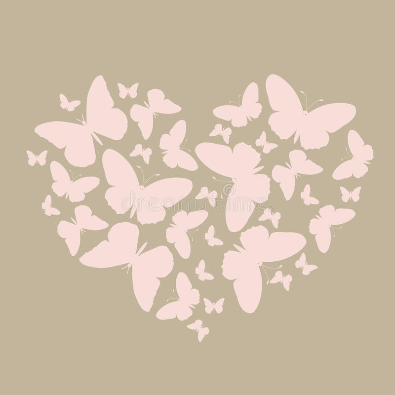 Elegant Icon Much The Gradient Of Butterflies In A Heart