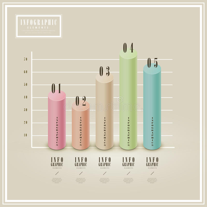 Elegant infographic mall stock illustrationer