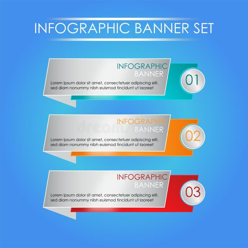 Elegant Infographic uppsättning vektor illustrationer