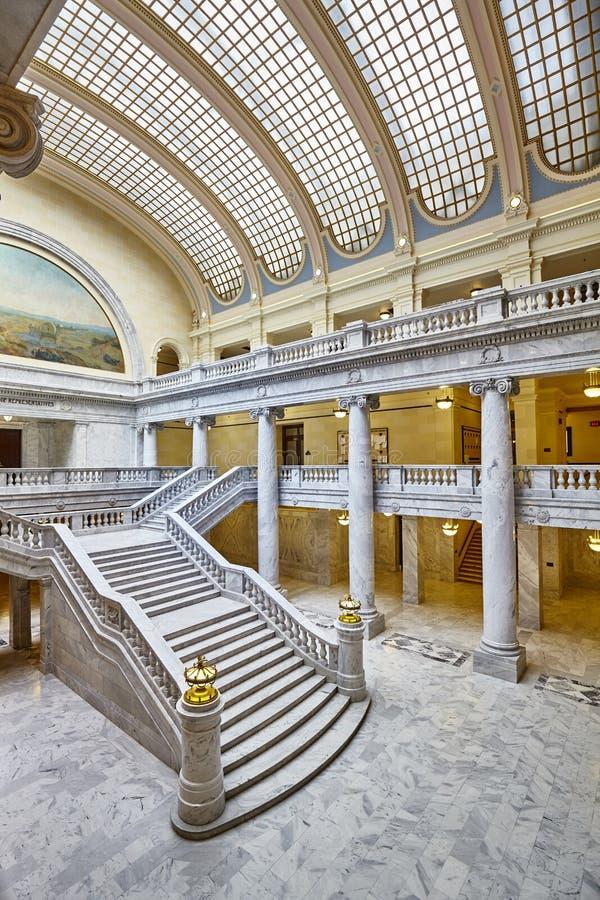Elegant inre av byggnaden för Utah statKapitolium fotografering för bildbyråer