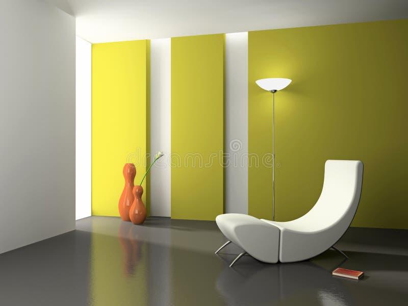 Elegant interior 3D stock image