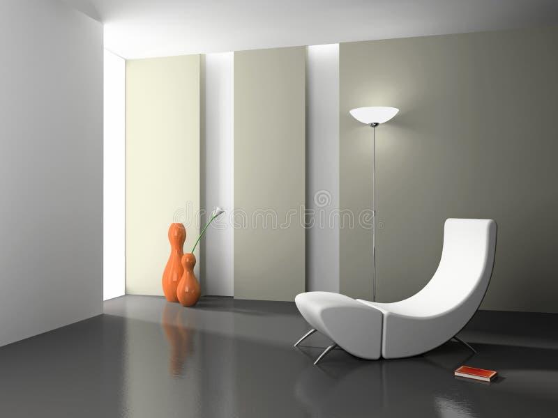 Elegant interior 3D rendering royalty free stock image