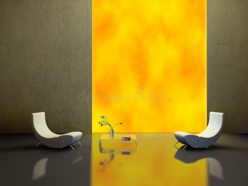 Elegant interior 3D rendering royalty free stock photography