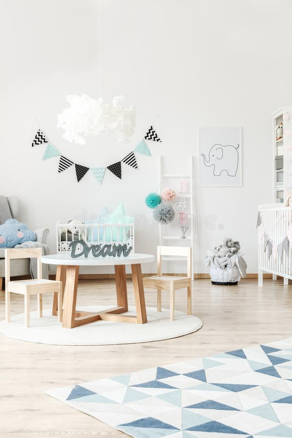 Elegant interior of child`s room royalty free stock photo