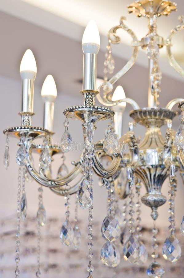 Intricate chandelier in an optician shop. royalty free stock image