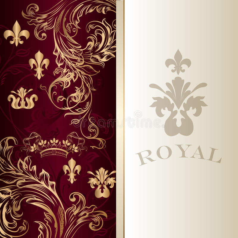 Elegant invitation card in royal luxury style stock vector download elegant invitation card in royal luxury style stock vector illustration of book divider stopboris Image collections