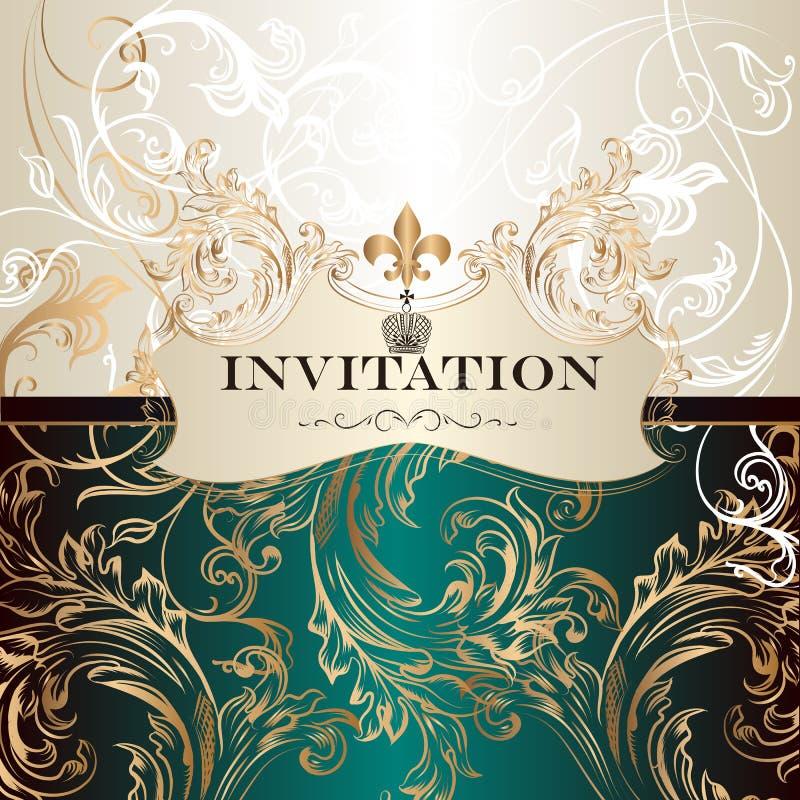 Elegant invitation card in royal style stock vector illustration download elegant invitation card in royal style stock vector illustration of certificate calligraphy stopboris Choice Image