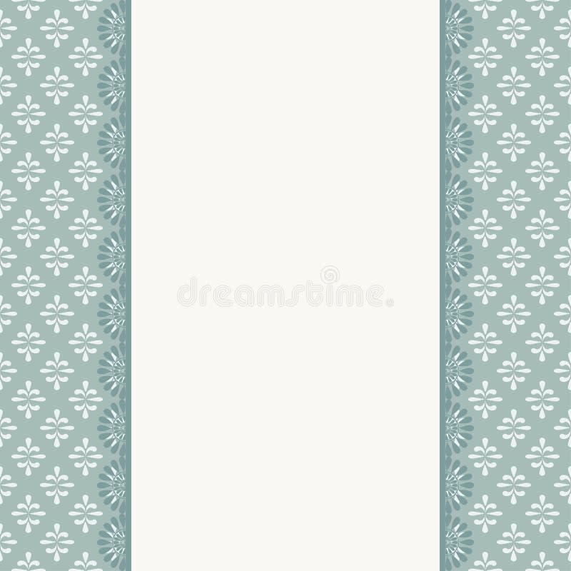 Elegant invitation. Decorative vintage frame. Beautiful floral greeting card royalty free illustration