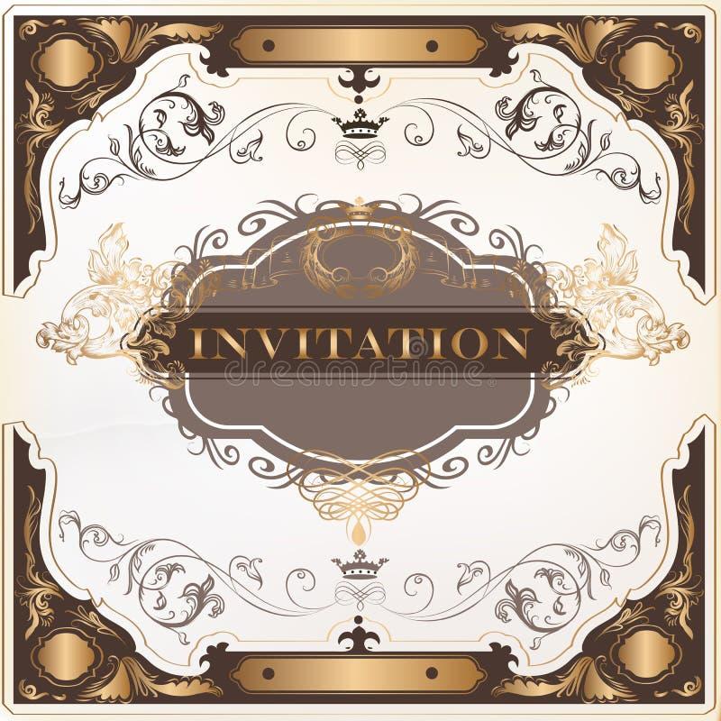 Elegant invitation vector card for design stock vector download elegant invitation vector card for design stock vector illustration of certificate curves stopboris Choice Image