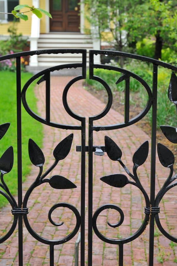 Download Elegant Iron Gate stock image. Image of leaf, ornamental - 19641123