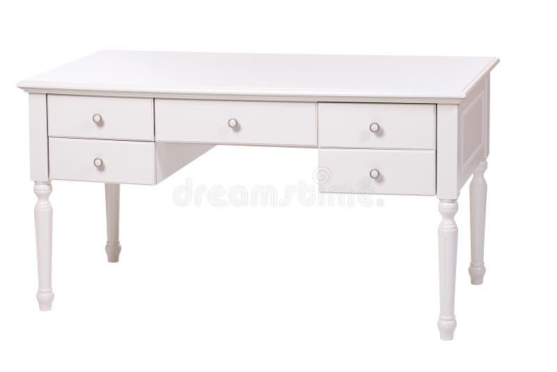 elegant isolerad vit writing för skrivbord royaltyfri fotografi