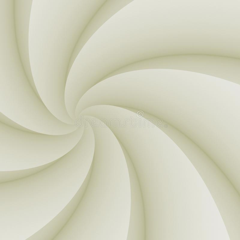 Elegant ivory white spinning spiral curves abstract background illustration royalty free stock images