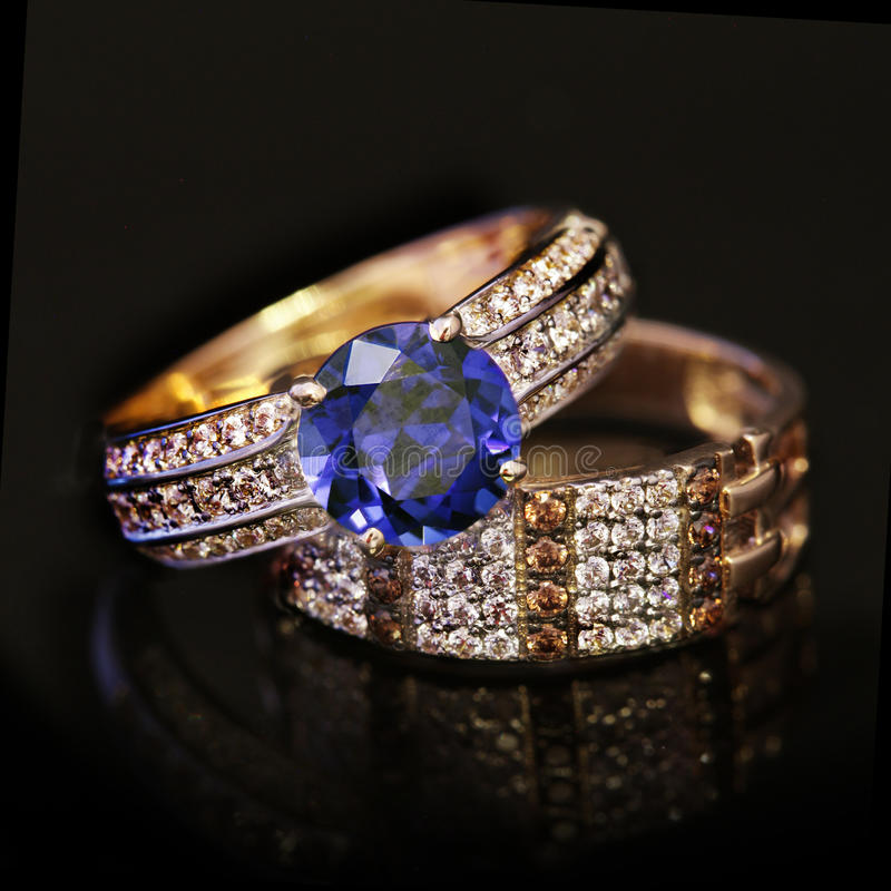 Elegant jewelry ring stock images