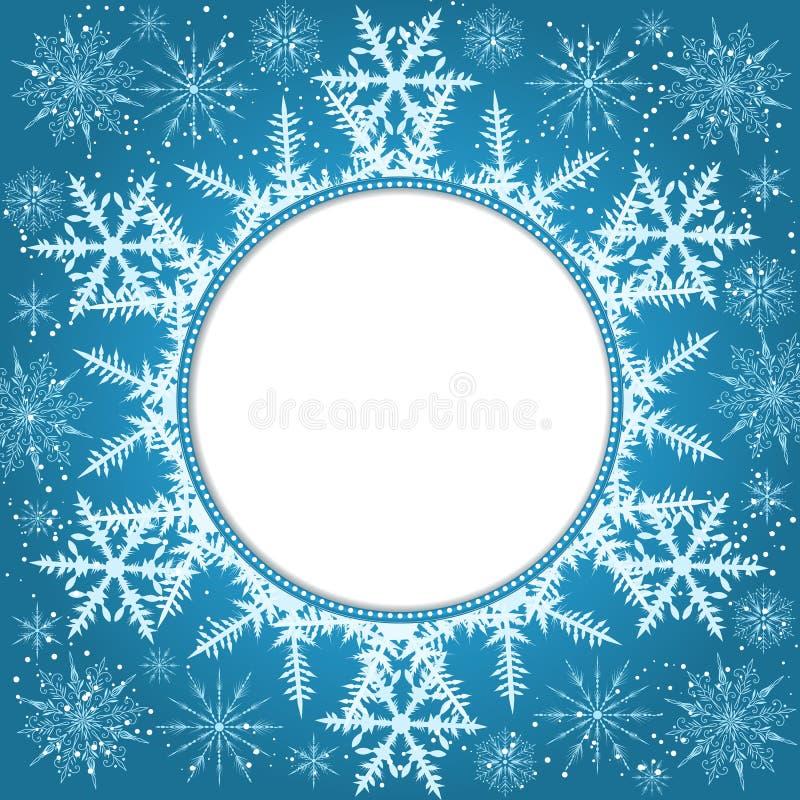 Elegant julbakgrund med snowflakes och ställe för text abstrakt bakgrundsvinter stock illustrationer