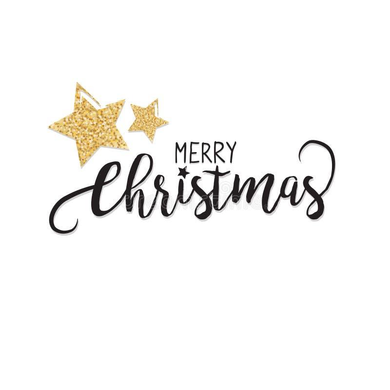 Elegant julSale bakgrund med glänsande guld- blänka stjärnor bakgrund, i vektor royaltyfri illustrationer