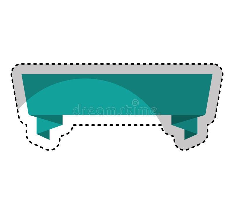 elegant kader met lint vector illustratie