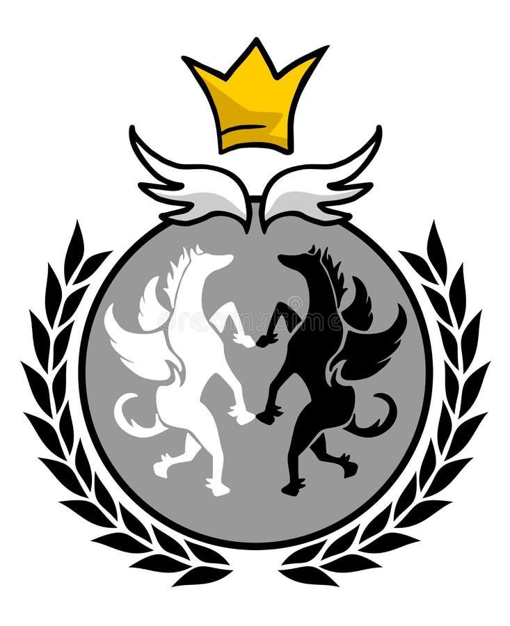 Elegant koningsembleem royalty-vrije illustratie