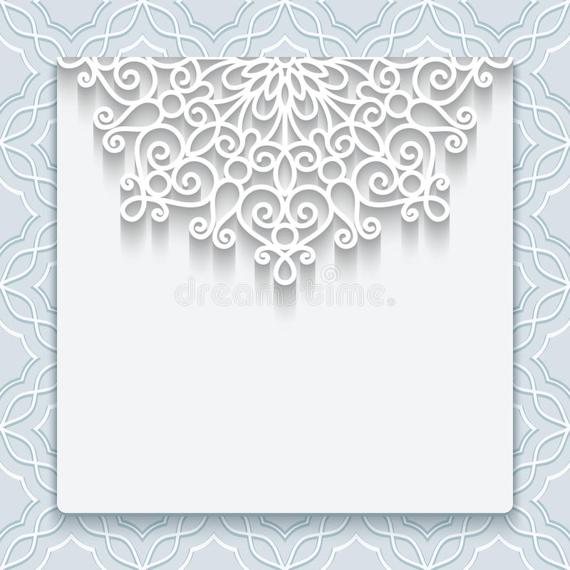 Elegant lace greeting card stock vector Illustration of celebrate