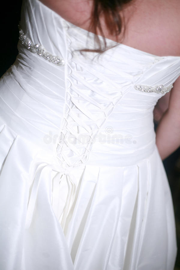 Elegant Lace-up Bridal Gown royalty free stock photo