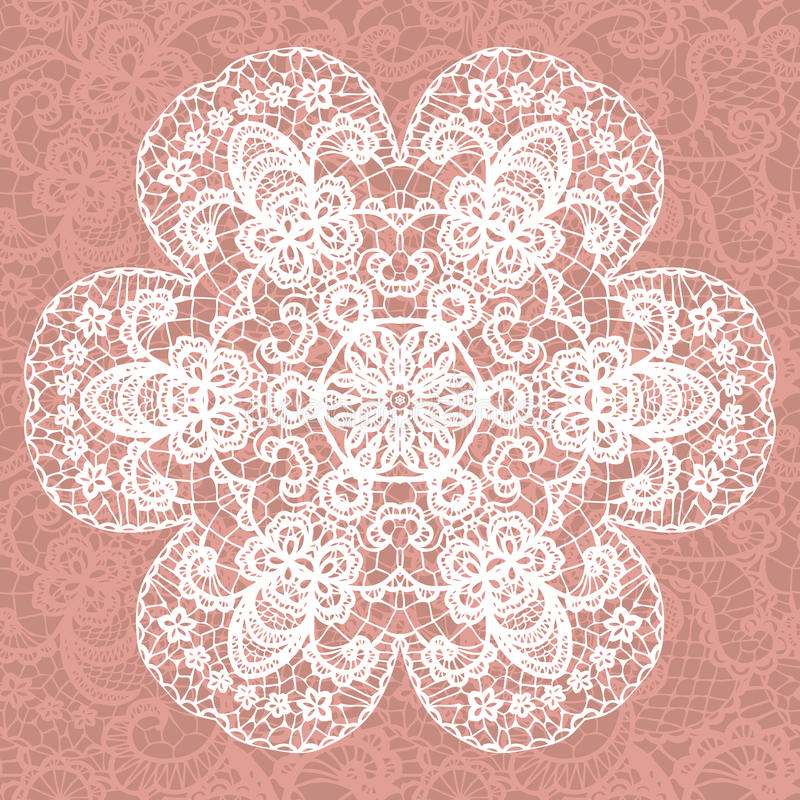 Download Elegant Lacy Doily. Vector Snowflake. Stock Vector - Image: 34603281
