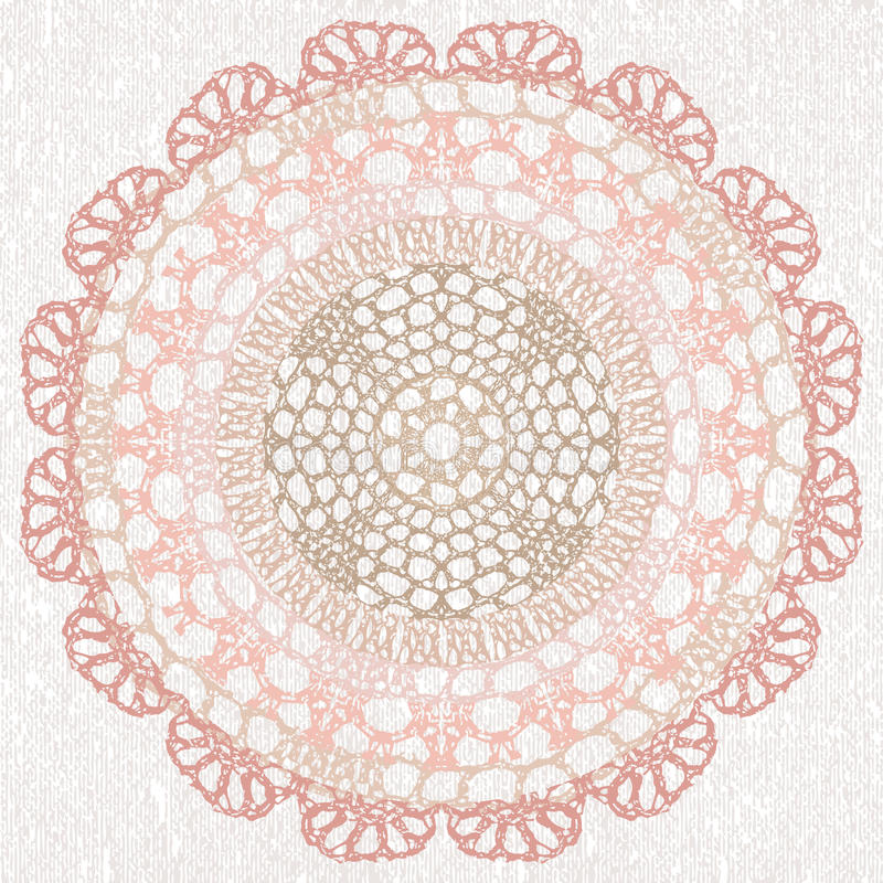 Elegant lacy doily. Vector template. Invitation card. This is file of EPS8 format vector illustration