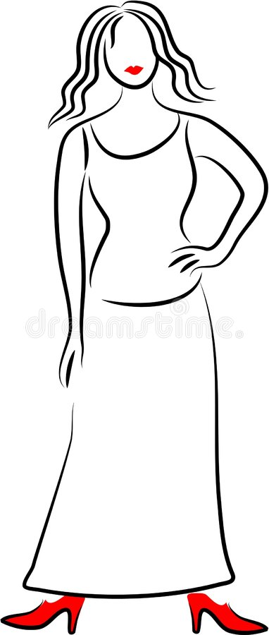 Download Elegant Lady stock vector. Image of beauty, beautiful, isolated - 85083