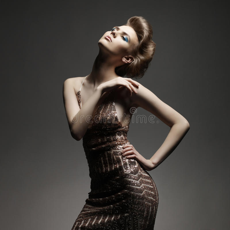 elegant lady royaltyfria foton