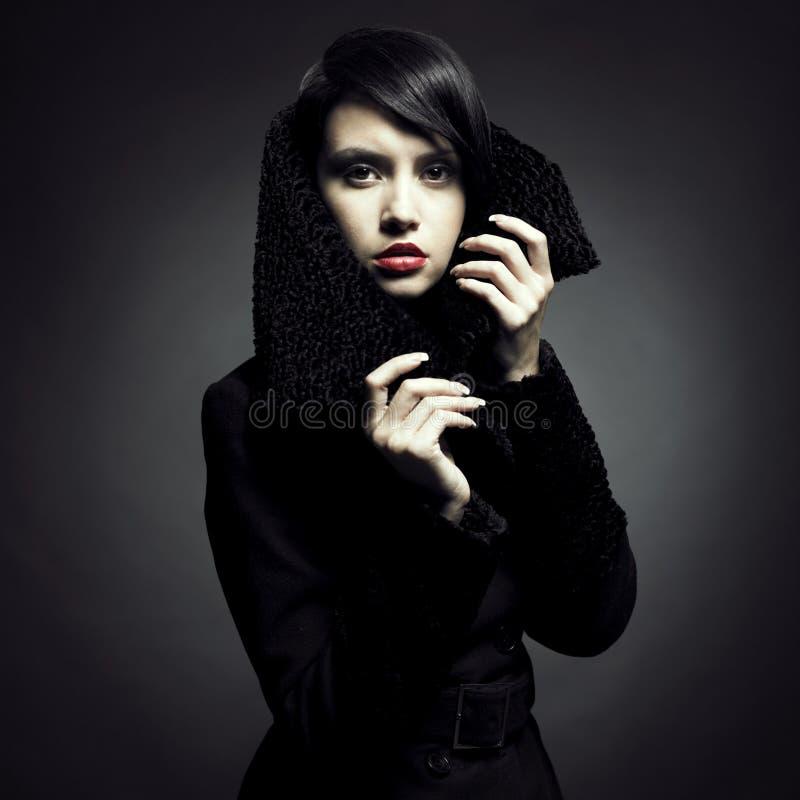 Download Elegant lady in coat stock photo. Image of collar, elegance - 17069154