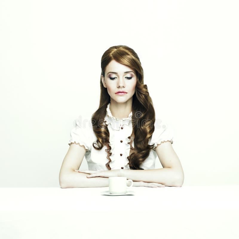 Download Elegant Lady At Table Royalty Free Stock Photography - Image: 17457007